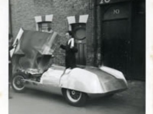 Image of the rear view of an Elva racing car